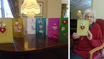 Tetbury care home create homemade cards to send to Relatives