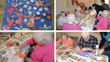 Crafty Christmas preparations at Hayes care home