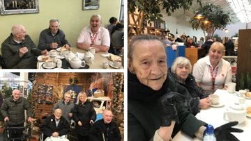 Festive garden centre trip for Liverpool care home Residents