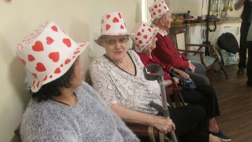 Love is in the air for Merthyr Tydfil care home Residents