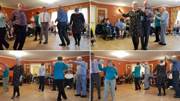 Residents enjoy an afternoon with a difference