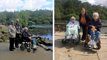Acacia Court care home enjoys summer trip to Golden Acre Park