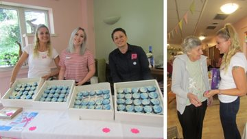 Horsham care home hosts cupcake day for Alzheimer's Society