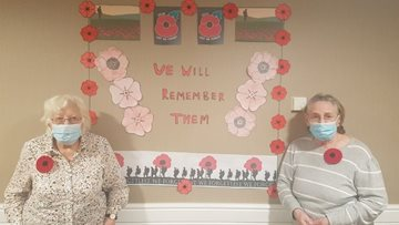 Durham care home Residents create beautiful Remembrance display