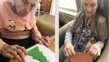 Christmas crafts at Dukinfield care home
