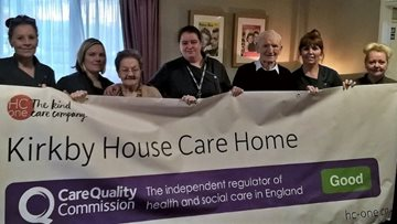Kirkby care home celebrates success in CQC report