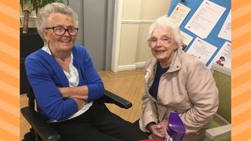 Friends reunited at Silverwood Care Home