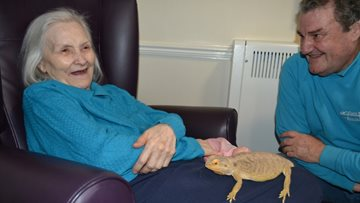 White Gables Residents get a visit from some Exotic Guests