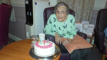 Wigston care home Resident enjoys big 90th birthday bash