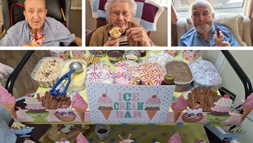 Sheffield care home enjoy ice cream treats