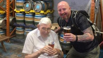 Ex armed forces residents visit local Blue Monkey Brewery