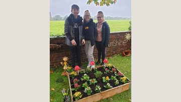 Local school children lend a helping hand at Newton Aycliffe care home