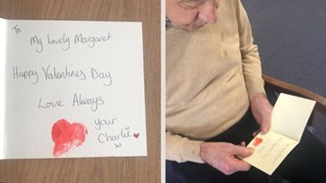 Love is in the air at Falkirk care home