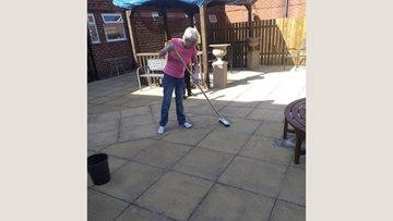 Gardening fun at Dukinfield care home
