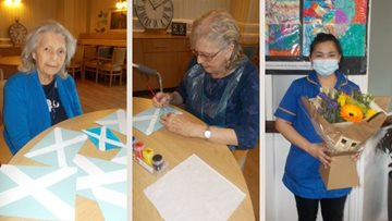 Double Burns Night celebrations at County Durham care home