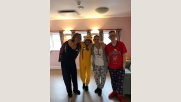 Peacehaven care home Residents hold pyjama day for Children in Need