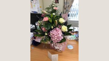 Mansfield care home team delighted by thoughtful gesture