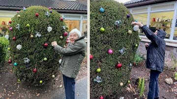 Crieff care home Residents decorate homes garden with bright Christmas lights