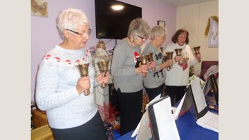 Residents get into the Christmas spirit at Stanley care home
