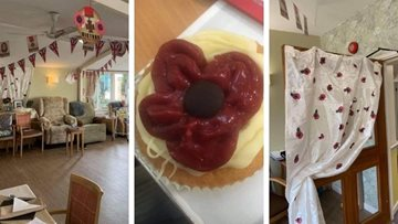 Remembrance Day at Moreton-In-Marsh care home