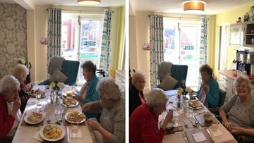 Warrington care home Residents enjoy lunch club excitement