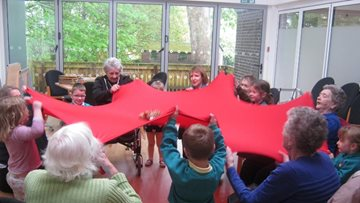 Young meets old at Bishop Auckland care home