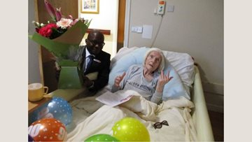 Birthday celebrations at Chelmsford care home