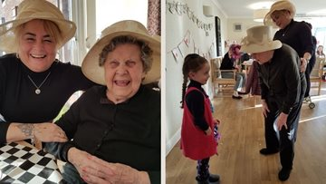 Intergenerational afternoon tea party at Glenrothes care home
