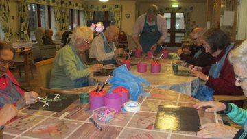 Perth care home Residents explore their creative side