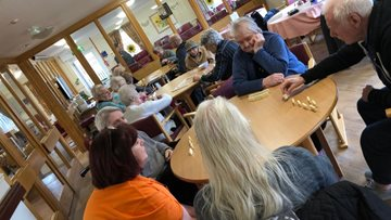 Dominoes delights at Glasgow care home