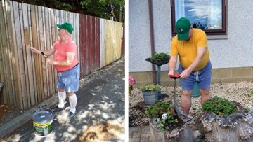 Cradlehall care home Resident claims green finger award in HC-One gardening competition