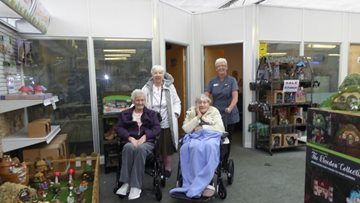 Hebburn care home Residents visit local garden centre