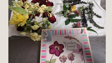 Flower pressing pictures at Radcliffe home