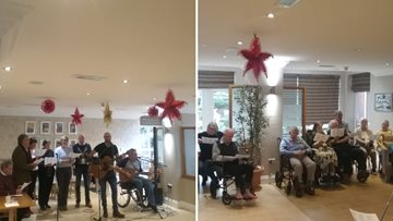 Carol singing gets Residents into the festive spirit