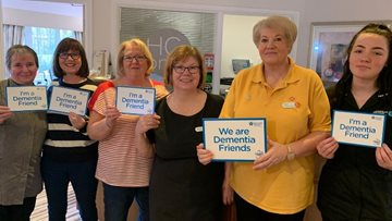 Dementia friends coffee morning at Hebburn care home