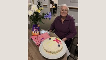 York care home Resident celebrates birthday in her new home