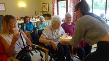 Lincoln care home Resident celebrates 90th Birthday