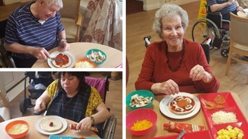 Pizza party at Northwich care home
