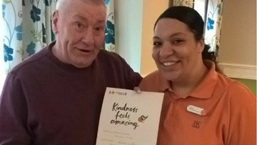 Kindness delivered at Walsall care home