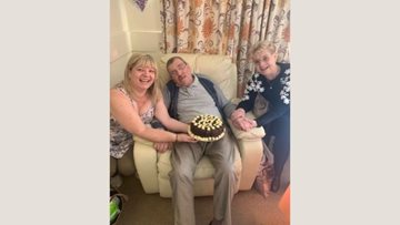 Wedding anniversary celebrations for Lyndon Hall Resident