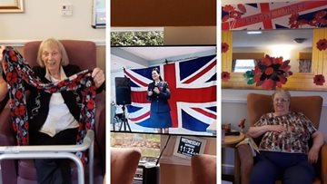 Remembrance Day at Tameside care home