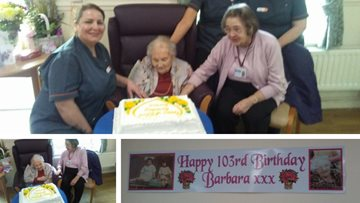 Residents celebrates 103rd birthday at Glasgow care home