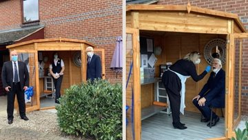 Nottingham care home opens new safe visiting chalet