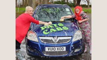 Care home hosts car wash for Comic Relief