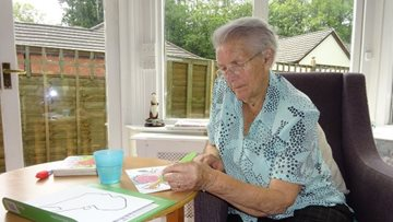 Honiton care home Residents get creative