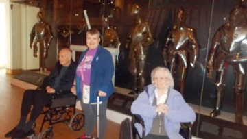 Leeds care home takes a journey back in time to Royal Armouries Museum