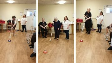 Curling competition at Manchester care home