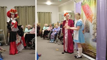 Festive pantomime performance at Penrith care home