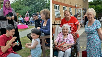 Fun in the sun at Dunstable care home