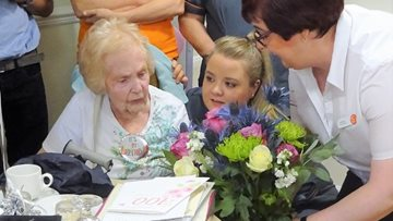 Resident at Ilkley care home celebrates 100th Birthday